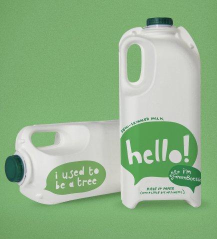 Trewithen Dairy green bottle