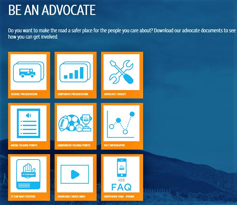 אפשרויות להוריד חומרי הסברה של קמפיין ATT