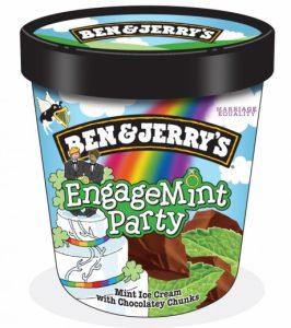 גלידת בן אנד ג'ריז בטעם מנטה לתמיכה בנישואים גאים באירלנד
