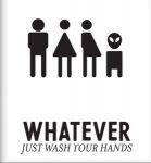 שלט יוניסקס לשירותים