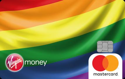 כרטיס אשראי בצבעי דגל הגאווה של חברת וירג'ין